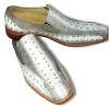 Мужские туфли из кожи крокодила белого цвета